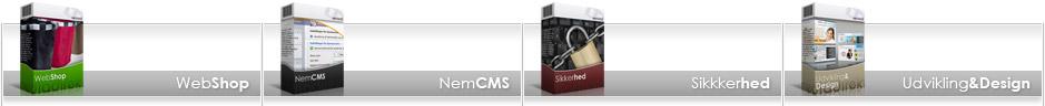 webshop nemcms sikkerhed udvikling og design